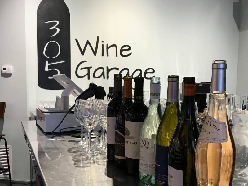 Interior of 305 Wine Garage